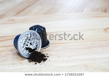 кофе · иллюстрация · три · различный · монохромный · бумаги - Сток-фото © franky242