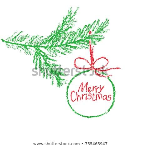 クリスマスツリー · スケッチ · 白 · 戻る · デザイン · 芸術 - ストックフォト © galyna