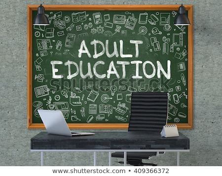 Adult Education - Hand Drawn on Green Chalkboard. Stock photo © tashatuvango