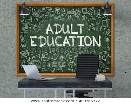 onderwijs · groene · schoolbord · doodle · iconen - stockfoto © tashatuvango