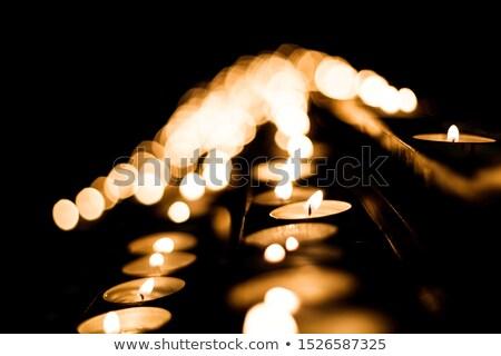 небольшой · Церкви · ночь · белый · мнение · дома - Сток-фото © Steffus