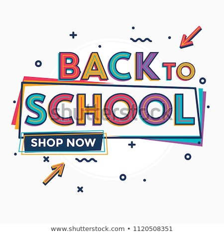 retro · crianças · escolas · compras · feliz · carrinho · de · compras - foto stock © rpcreative