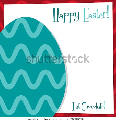 Bright Easter egg sticker background in vector format. Stock photo © piccola