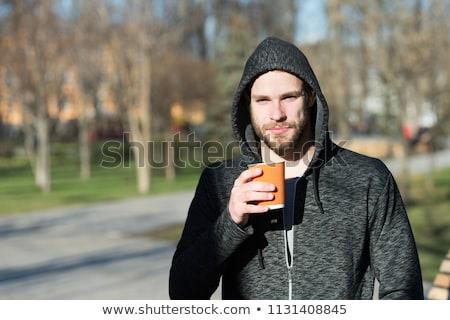 Man jogging park vroeg najaar Stockfoto © stevanovicigor