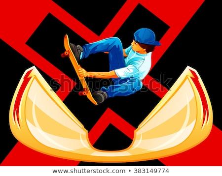Skateboarding poster skateboarder stelle uomo sport Foto d'archivio © sahua