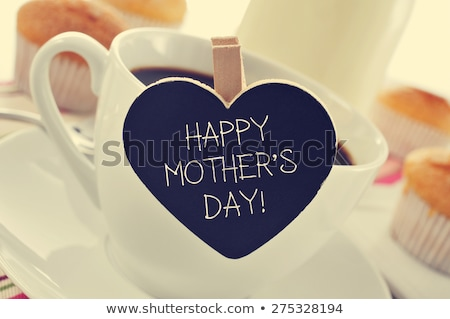 feliz · dia · das · mães · crianças · desenho · giz · asfalto · mensagem - foto stock © zerbor