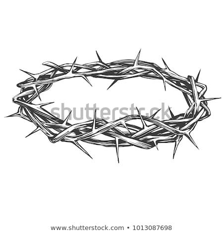 Korona makró Krisztus hit vallásos szimbólum Stock fotó © Digifoodstock