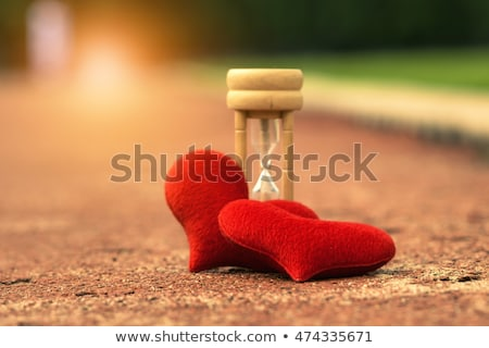 saat · kırmızı · kalp · zaman · sevmek - stok fotoğraf © devon