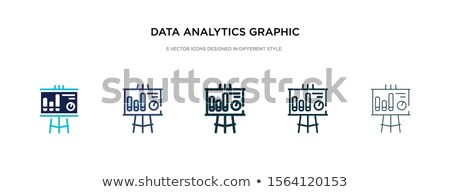 modern seo thin line icons 2 stock photo © genestro