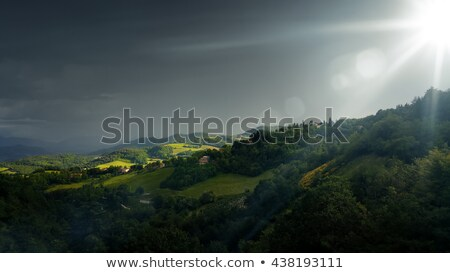 bad weather landscape at urbino italy stock photo © magann