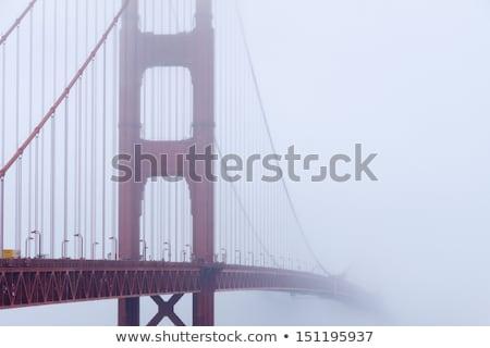 Niebla niebla siluetas Golden Gate Bridge San Francisco California Foto stock © yhelfman