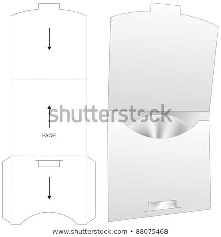 nyitva · doboz · lemez · szerkeszthető · terv · film - stock fotó © pakete