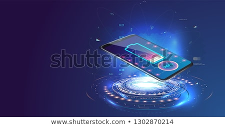 smartphone on a wireless charge stock photo © m_pavlov