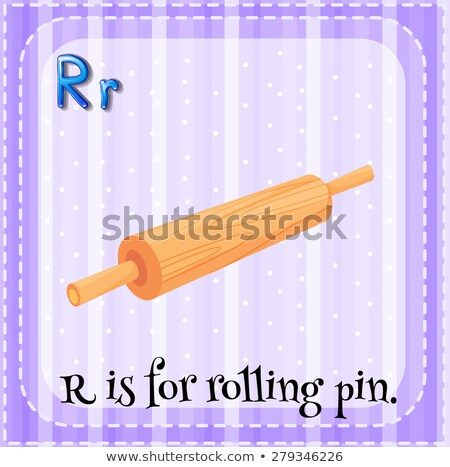 Flashcard letter R is for roll Stock photo © bluering
