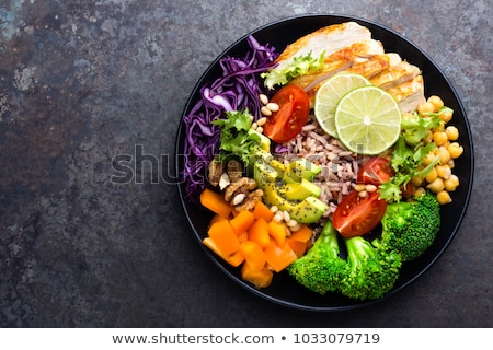 Ernährung Platte Wort weiß Essen Schule Stock foto © fuzzbones0
