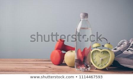 óra testmozgás fa asztal szó iroda gyermek Stock fotó © fuzzbones0