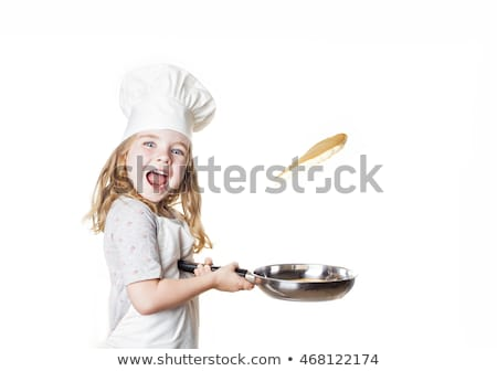 Little Chef flipping pancakes Stock photo © Andersduus
