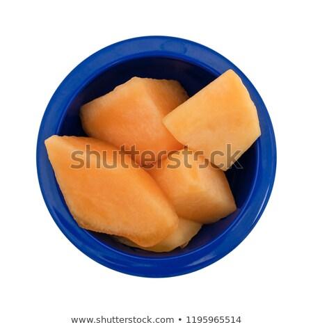 Orgánico melón servido superior vista Foto stock © stevanovicigor