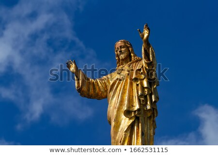 Golden Jesus Satue Basilica of Lady of Rosary Fatima Portugal Stock photo © billperry