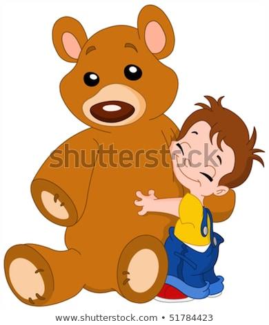 Pequeno menino tenha fantoche ilustração criança Foto stock © bluering