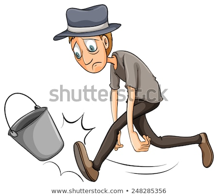 A boy kicking the pail Stock photo © bluering