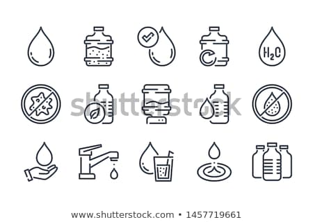 collection of anti bacteria with water icon Stock photo © jawa123