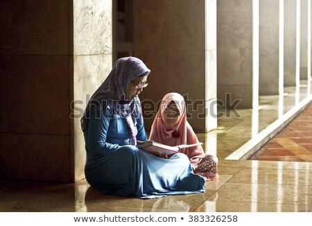 インテリア · モスク · 手 · 青 · アーキテクチャ · イスラム - ストックフォト © zurijeta