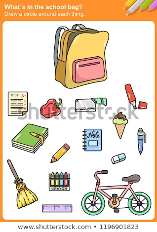 A letter S for school bag Stock photo © bluering