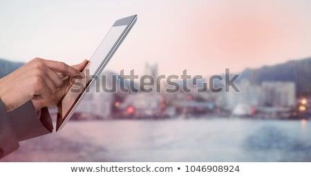strony · cyfrowe · tabletka · student · obok - zdjęcia stock © wavebreak_media