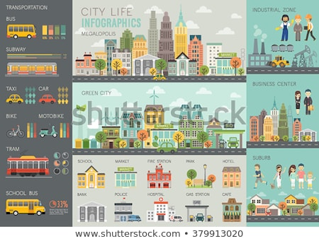 An infochart of the buildings Stock photo © bluering