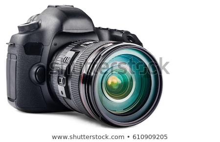 Digitale camera illustratie witte achtergrond lens cirkel Stockfoto © bluering