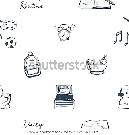 Seamless background with kids and routine Stock photo © bluering