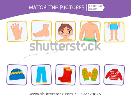 Worksheet with a boy Stock photo © bluering