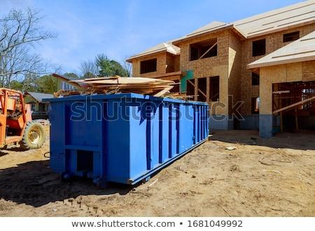 мусор грузовиков иллюстрация фон искусства зеленый Сток-фото © bluering