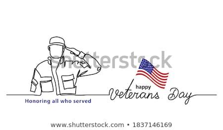 A simple drawing of a soldier Stock photo © bluering