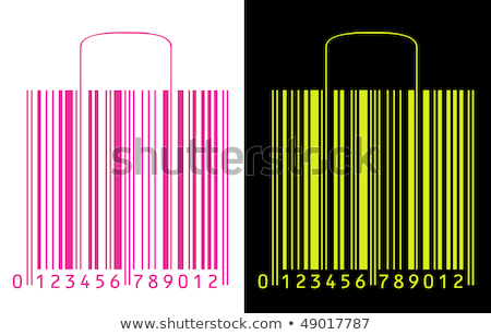 shopping bags stylized as barcode stock fotó © kayros