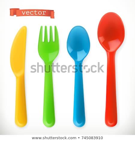 Plastic spoon stock photo © coprid
