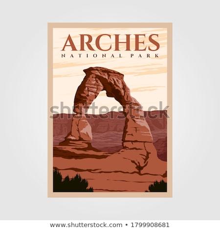 Sandstone monuments, Arches National Park, Utah Stock photo © CaptureLight