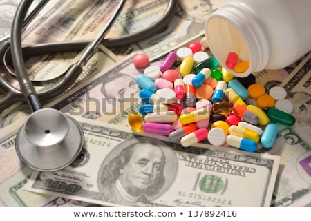 close up of addict hands with drugs and money Stock photo © dolgachov