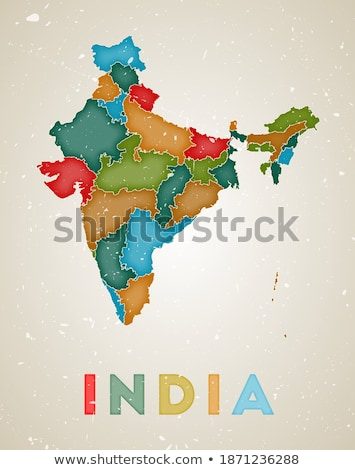 map of india in textured old background vector design illustrati stock photo © sarts