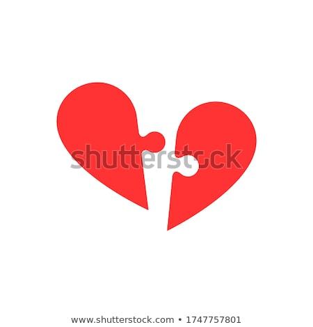 Jigsaw puzzle heart icon with missing piece Stock photo © adrian_n