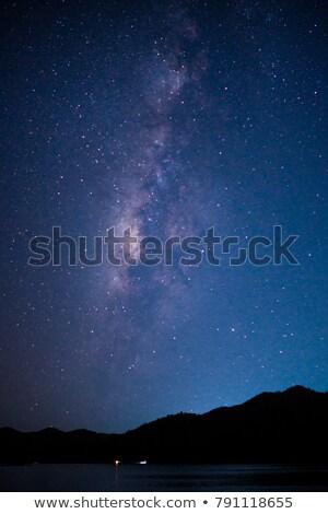 éjszaka csillagos ég függőleges illusztráció vektor formátum Stock fotó © orensila