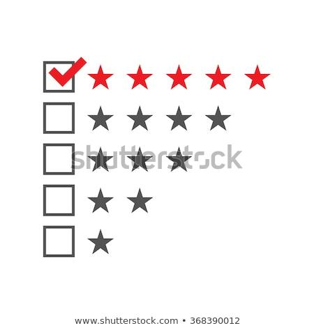 Satisfaction Five Stars Checklist Concept Stock photo © ivelin