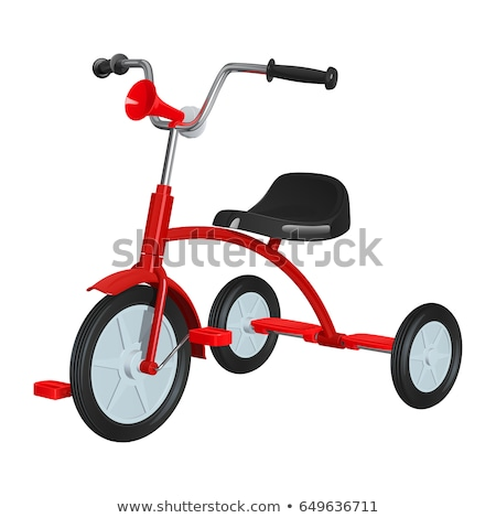 Kırmızı üç tekerlekli bisiklet boş çimento bisiklet egzersiz Stok fotoğraf © BrandonSeidel