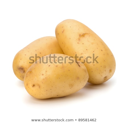 Stock photo: fresh unpeeled potatoes