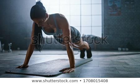 athletic fit girl stock photo © dtiberio