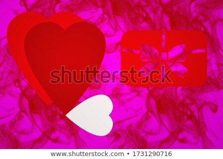 Red and pink heart shape. Lesbian couple sign Stock photo © orensila