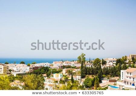 View costa la città mare casa Foto d'archivio © -Baks-