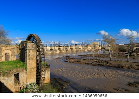 ruins of ancient watermill in cordoba stock photo © compuinfoto