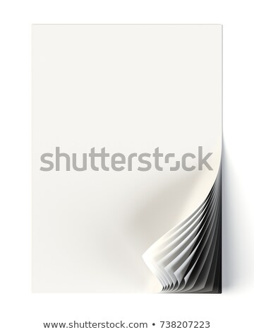 White document mock up with monochrome curled corner Stock photo © pakete